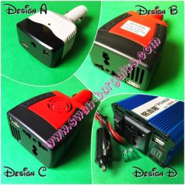 2-in1 inverter car power transformer 12vdc to 220vac Singapore