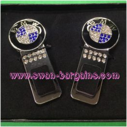 Car Safety Belt Buckle Key Gift Set BMW Cystal-studded Chrome-Plated Singapore