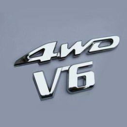 Universal 3D Chrome-Plated Alloy Emblem