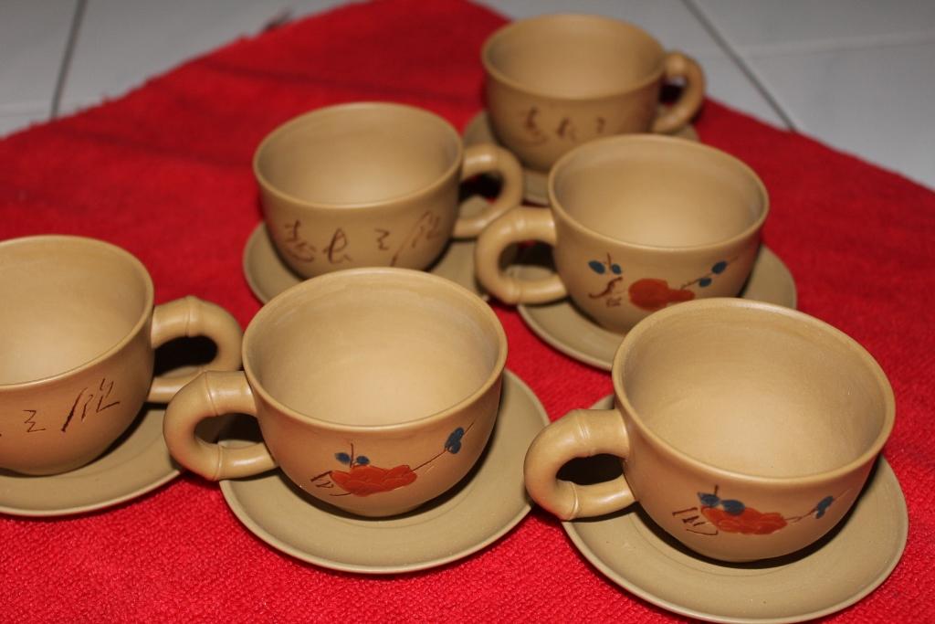yixing chinese tea cups set plum blossoms  tea store singapore