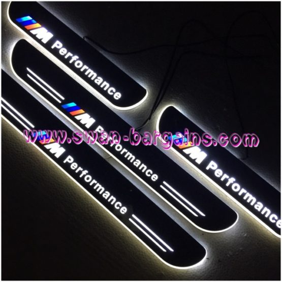 Animated Moving LED Car Door Sill Singapore | BMW 3-Series White