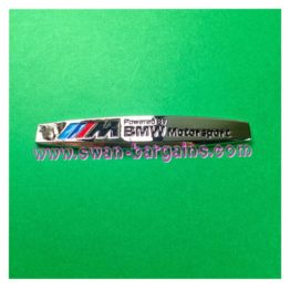 BMW M Power Motorsport Alloy Badge Emblem Singapore | Online Car Accessories Mart
