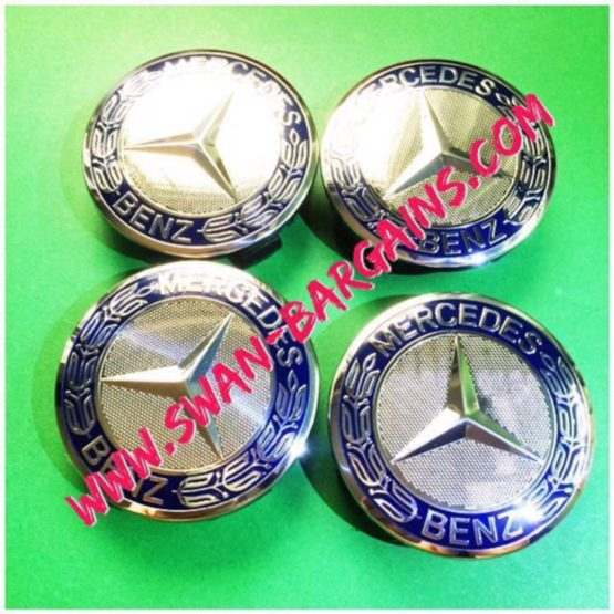 Blue Mercedes-Benz Sports Rim Center Wheel Hub Cap Malaysia