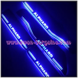 Blue Toyota Alphard Animated Moving LED Car Door Sill Singapore