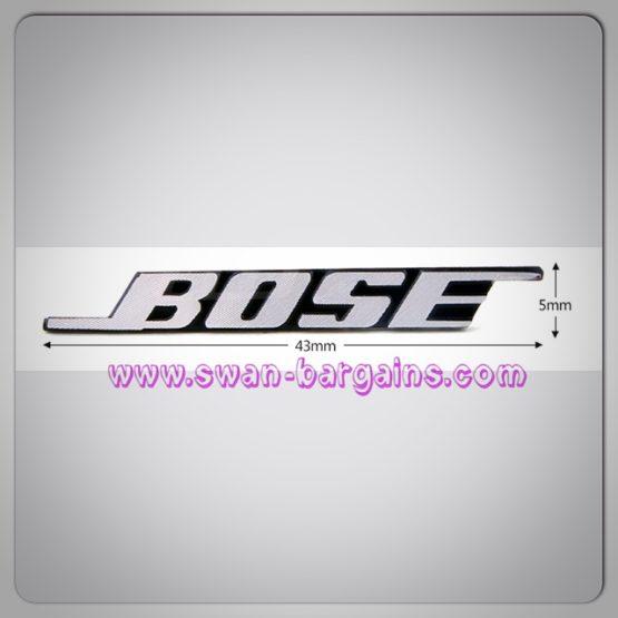 3d bose badge emblem logo brushed surface dimension