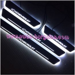 Chevrolet Animated Moving LED Car Door Sill Singapore - White