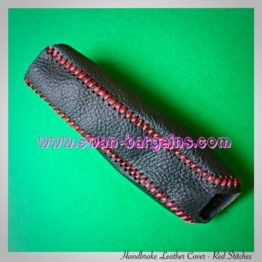 Cruze Handbrake Handle Leather Cover - Red Stitches | SG Cruze Online Mart