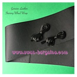 Cruze Steering Wheel Genuine Leather Cover Wrap - Black Stitches | Online Cruze Accessories Malaysia