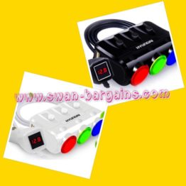 Hyundai Multi-Function Car Cigarette Power Socket Adapter Singapore