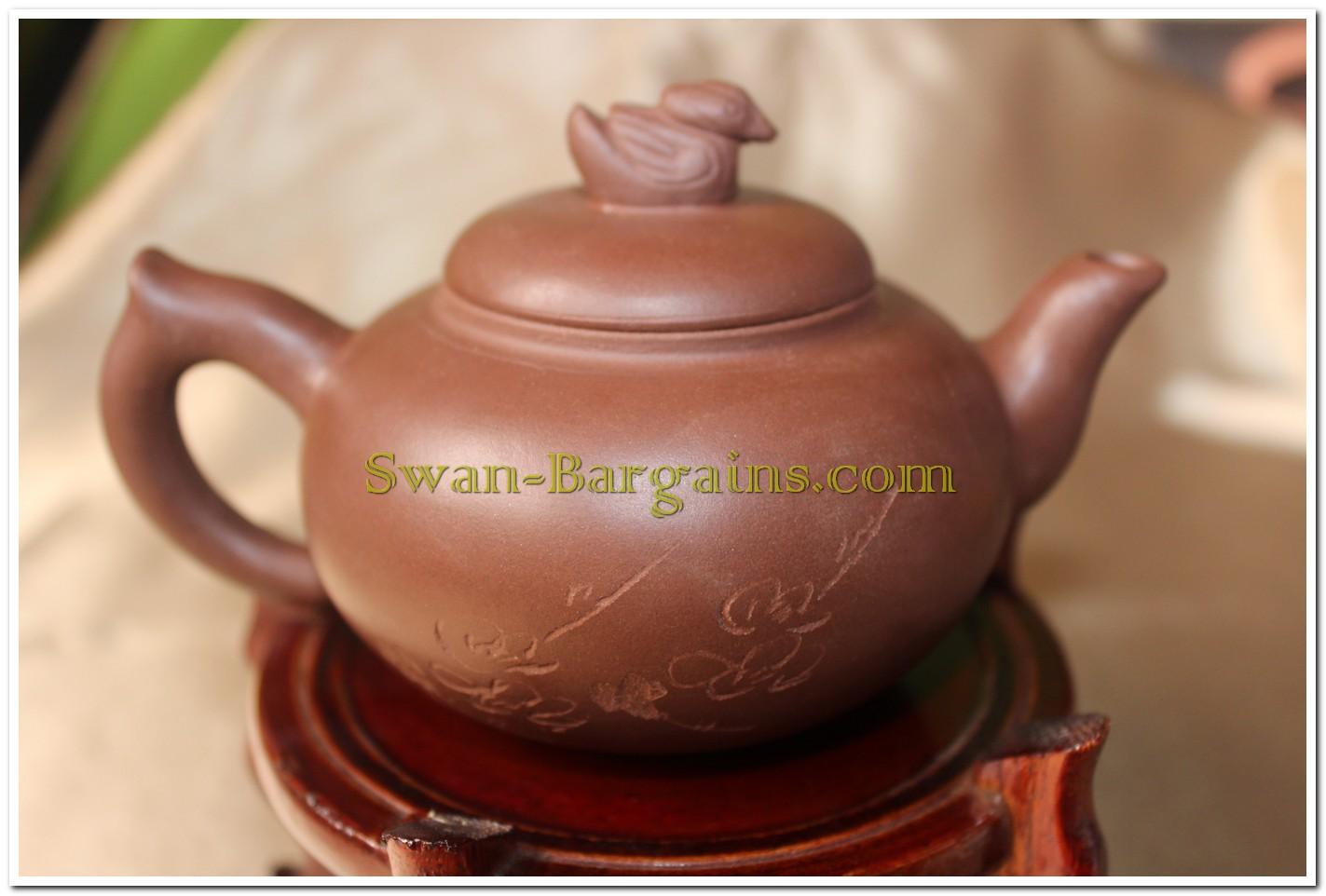 yixing teapot mandarin duck motif teapot chinese teapot singapore