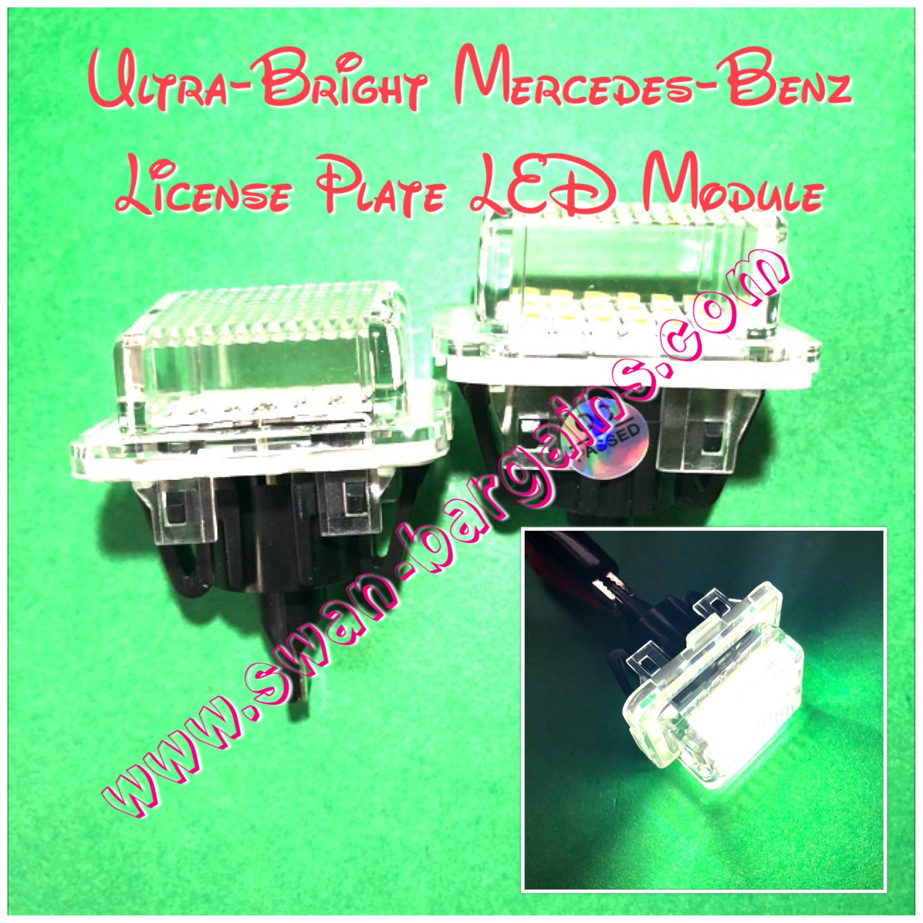 Mercedes-Benz Error-Free Ultra-Bright LED License Plate Light Module