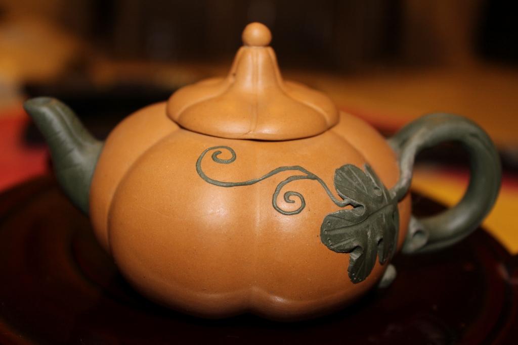 yixing teapot pumpkin vines design chinese teapot collections