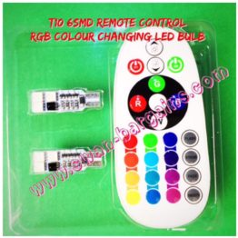 T10 T15 Colour Changing Remote Control RGB LED Bulb Singapore
