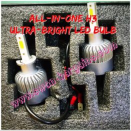Ultra Bright H3 All-in-One LED Fog Lamp Bulb Singapore