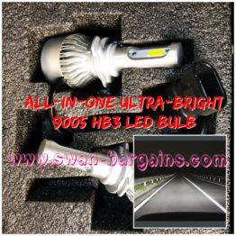 Ultra Bright HB3 9005 All-in-One LED Headlamp Bulb Singapore
