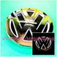 Volkswagen VW Illuminating LED Rear Batch Emblem Singapore - White