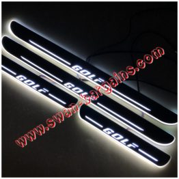 WHITE 4pcs Volkswagen VW Golf Animated Moving LED Car Door Scuff Plates Protector UK | Volkswagen Animated Moving LED Car Door Scuff Sill
