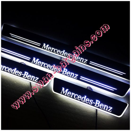 White 4pcs Mercedes-Benz GLC Animated Moving LED Car Door Scuff Plates Protector Singapore